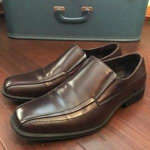 ALFANI men's size 10 brown dress shoes
